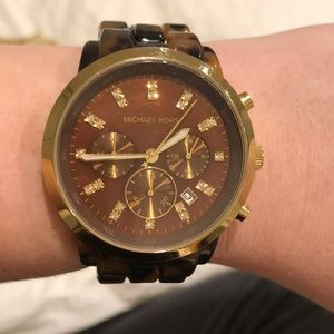 Michael Kors Large Tortoise Shell Watch
